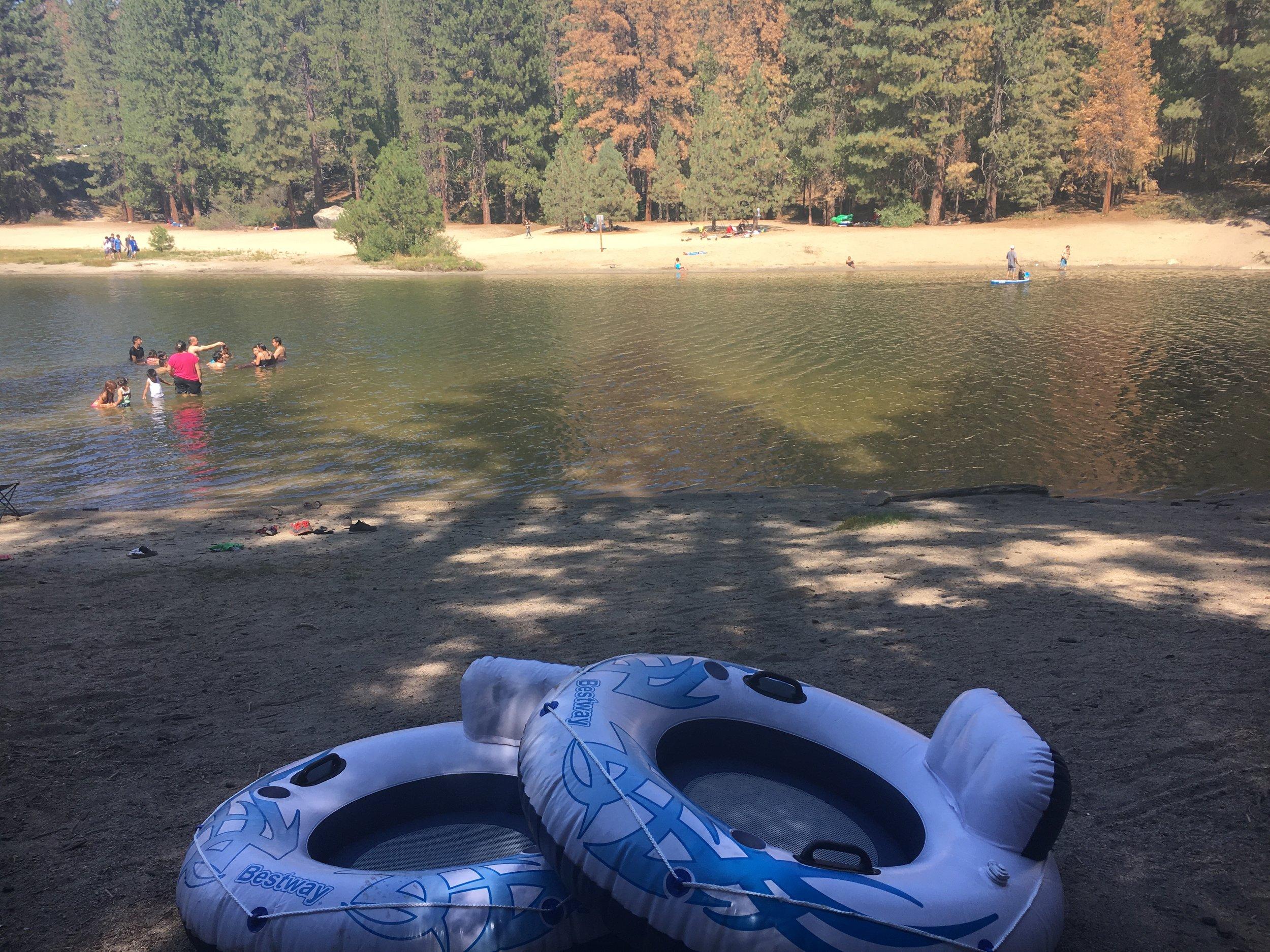 Floating on Hume Lake
