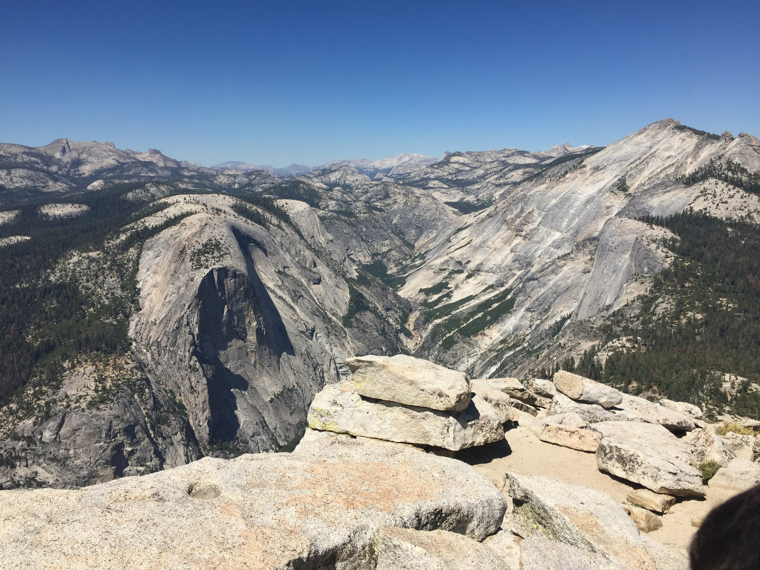 Stunning 360° views await you at the top of Half Dome