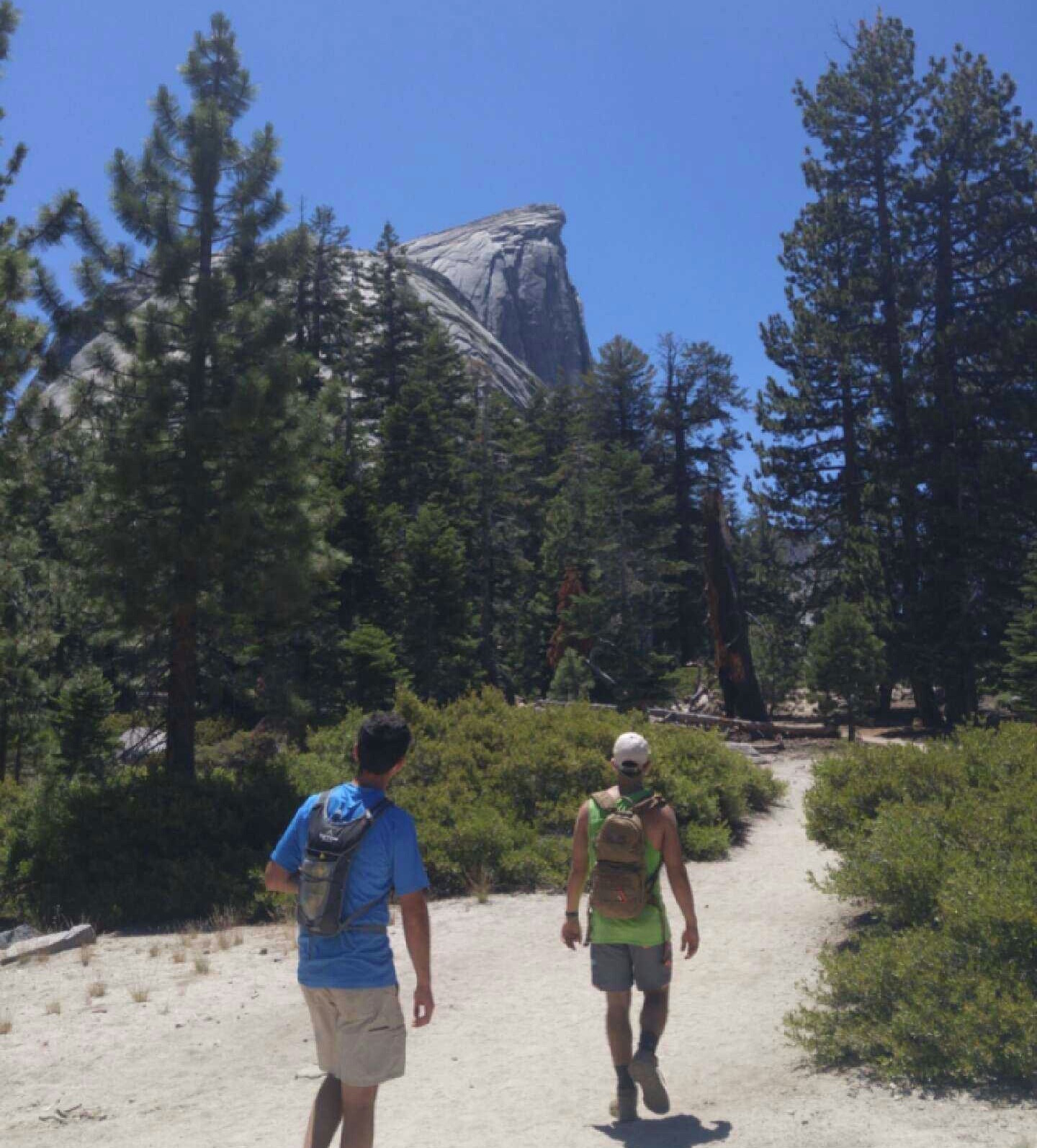 Half Dome looking more impressive the closer we get