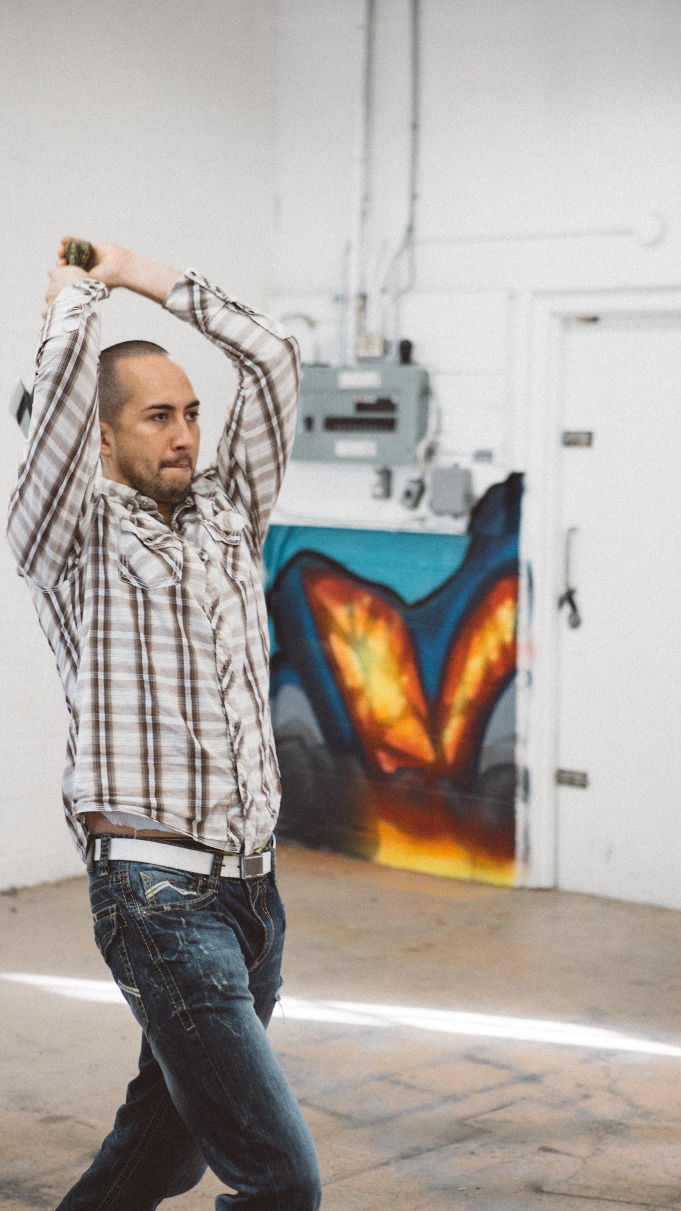 Mario Zelaya, the founder of Bad Axe Throwing
