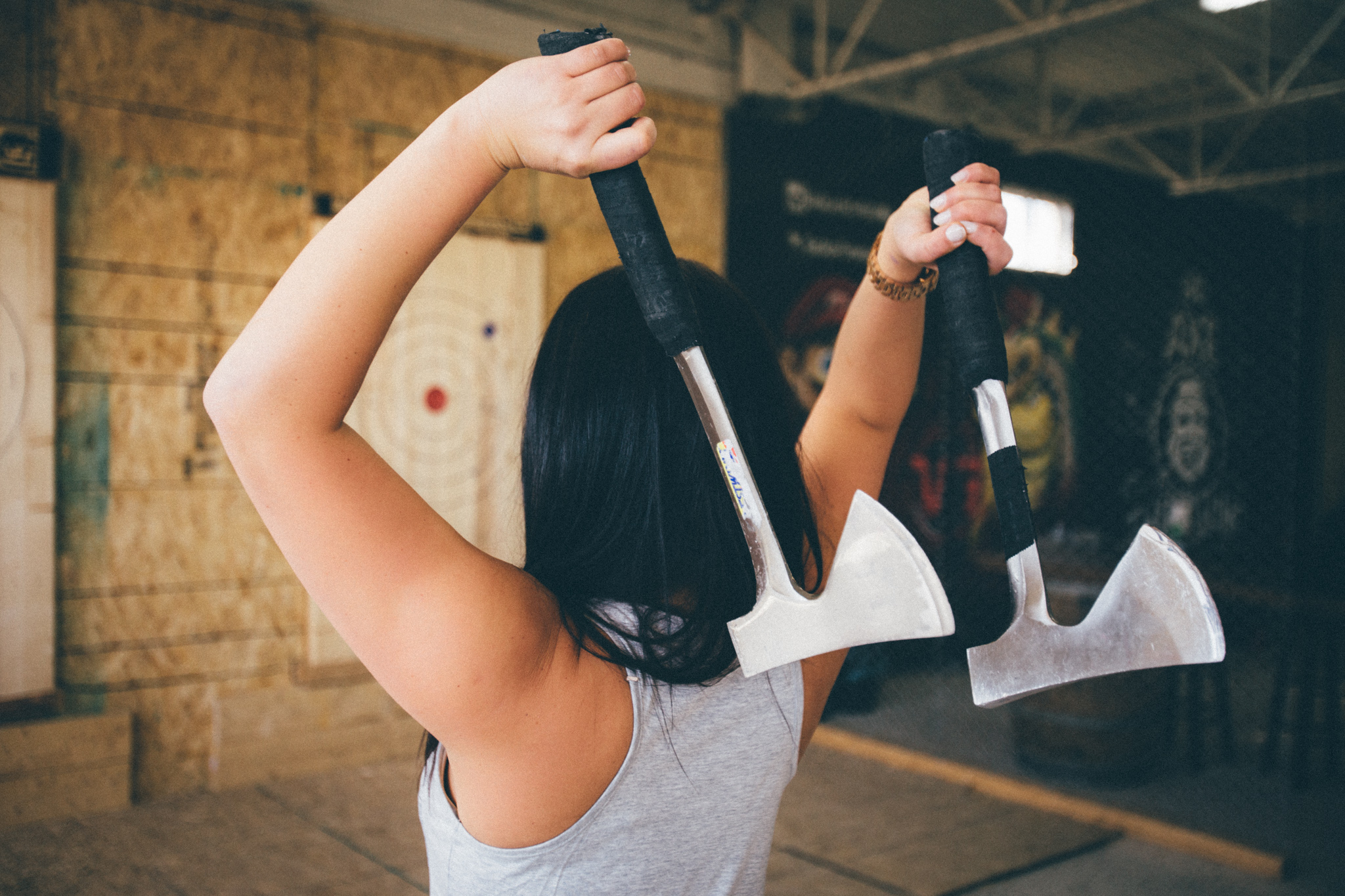 Go try Axe Throwing at Bad Axe Throwing today!
