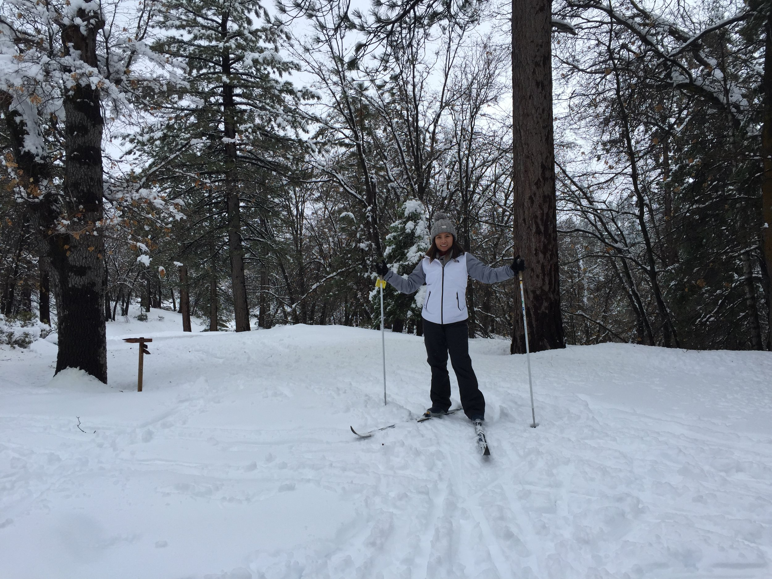 And ski a little bit