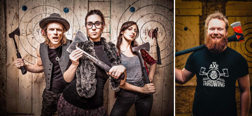 Axe Throwing is a growing hobby in the U.S.