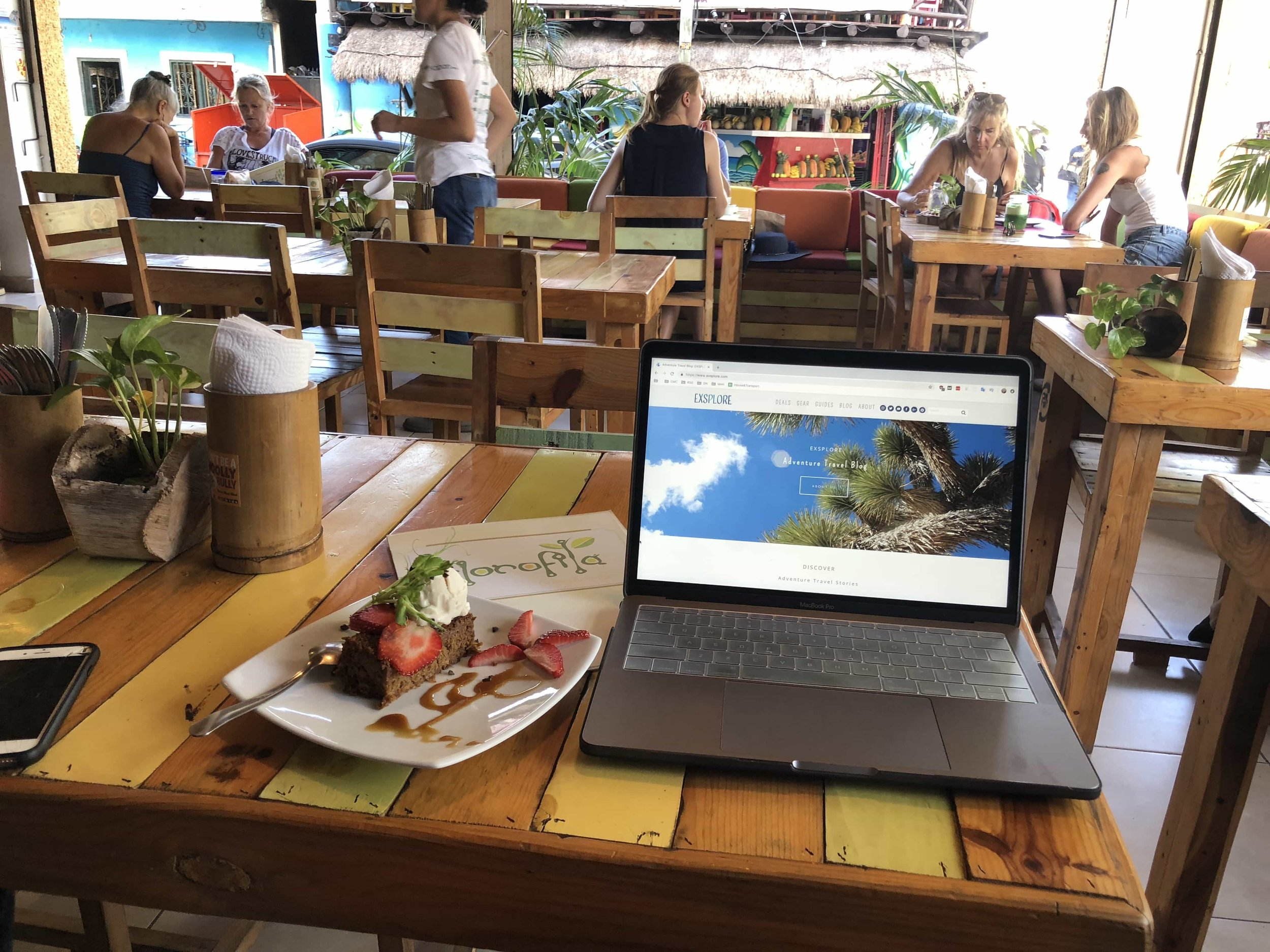 Being a digital nomad involves working from a lot of cafes