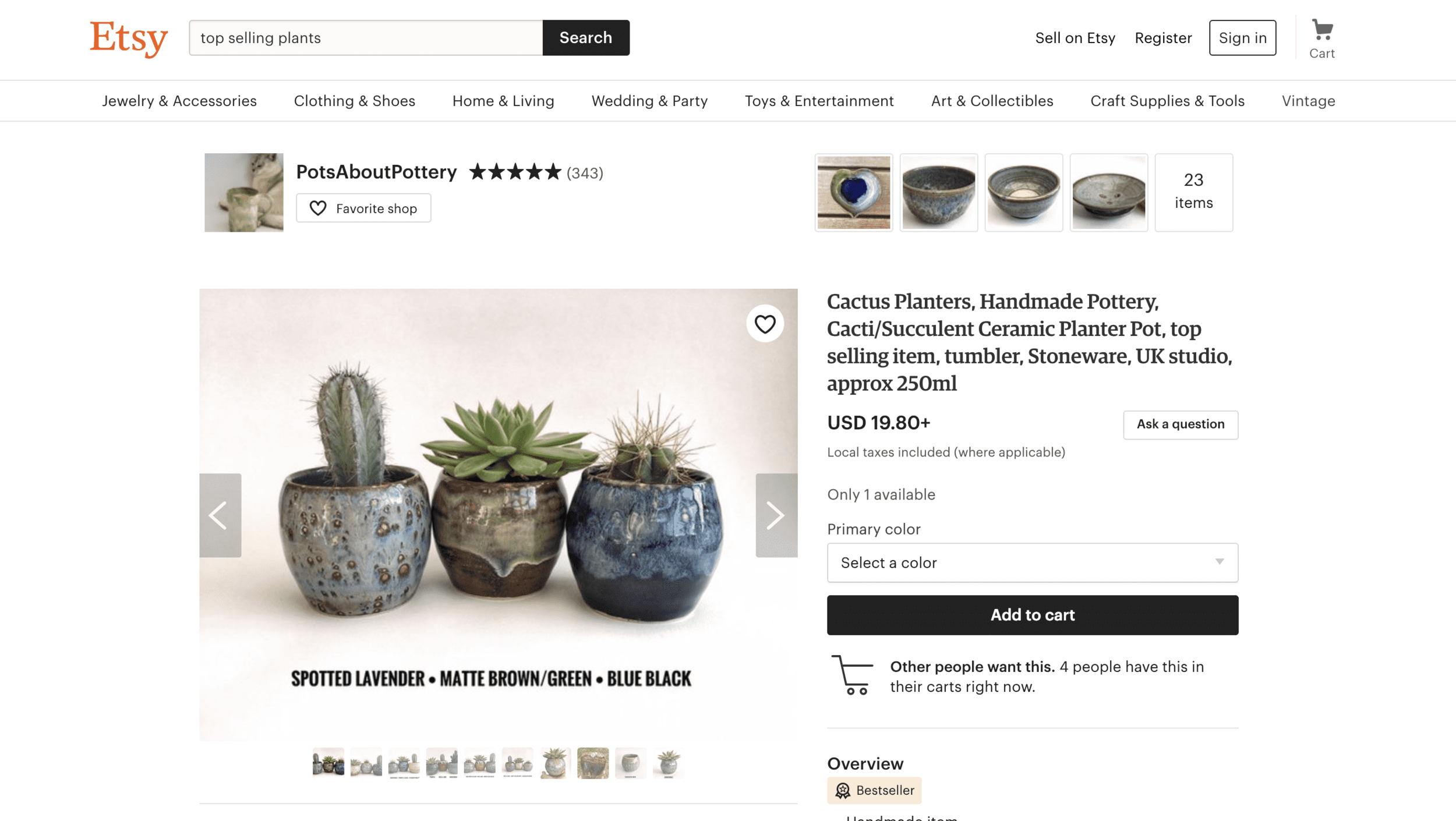 Example of an online store