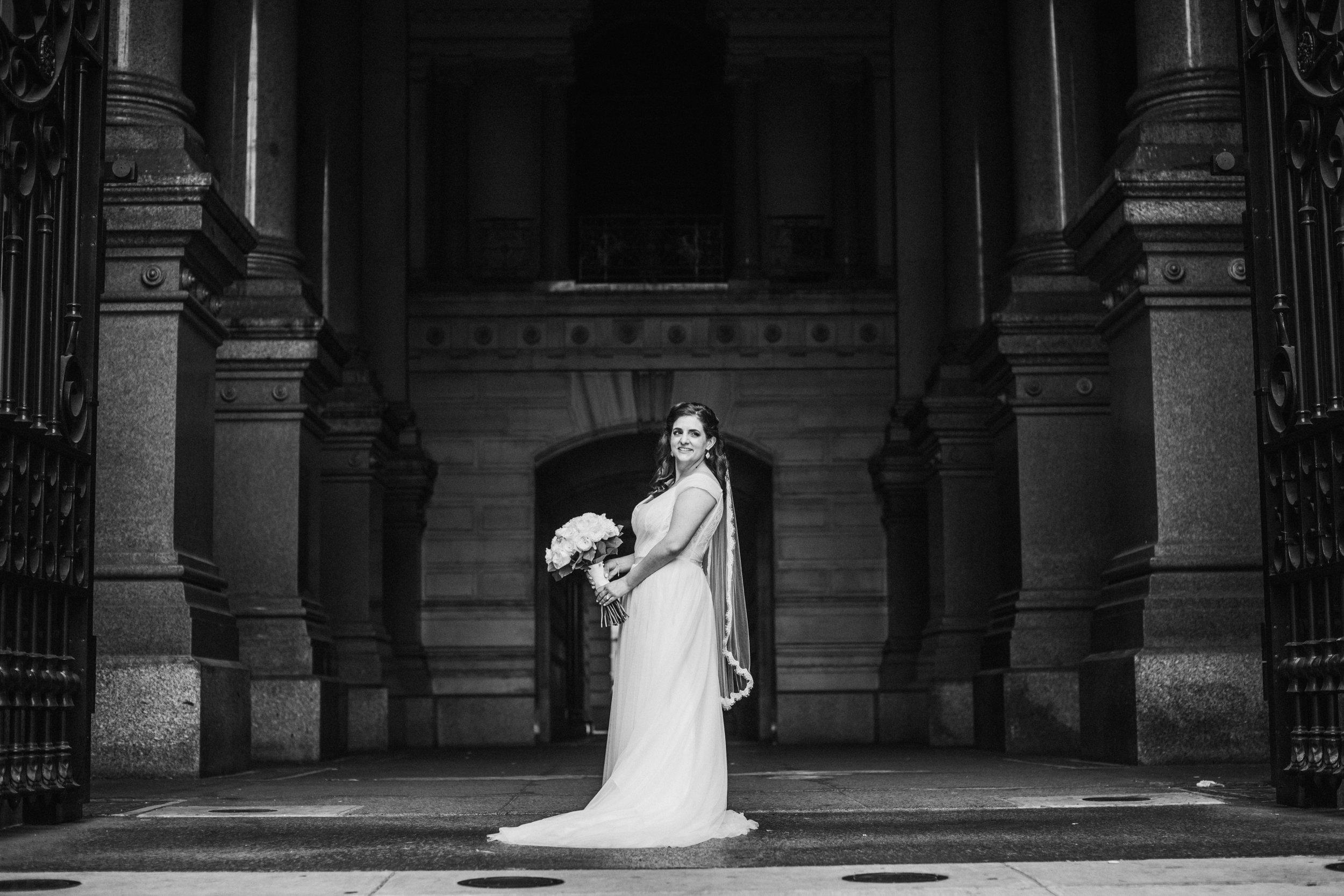 JennaLynnPhotography-NJWeddingPhotographer-Philadelphia-Wedding-ArtsBallroom-Bride&GroomBW-30.jpg