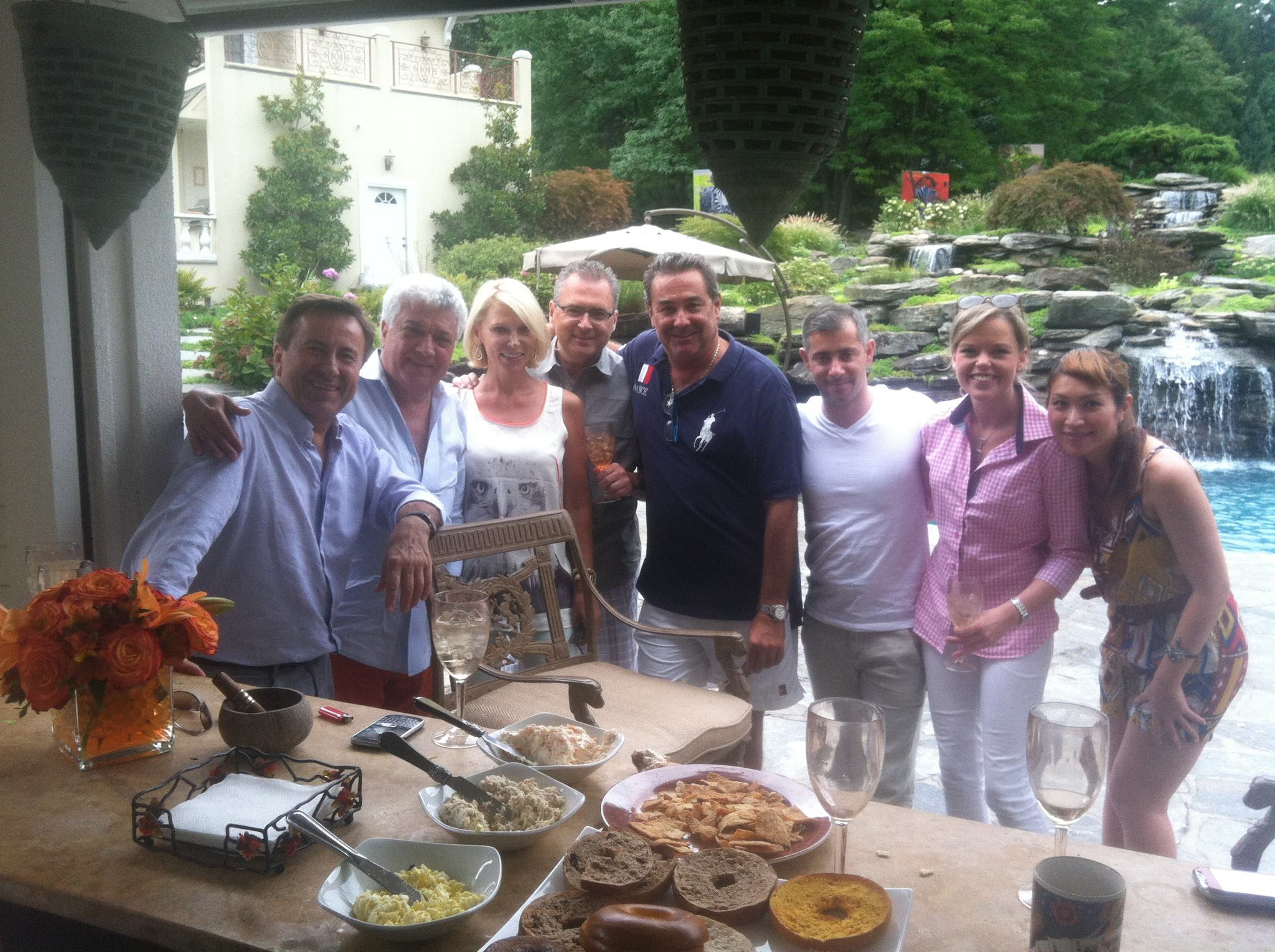Michel Bittan with Bruno Jamais, Mr. and Mrs. Daniel Boulud, and Chef Edward Brown at Michel's home.