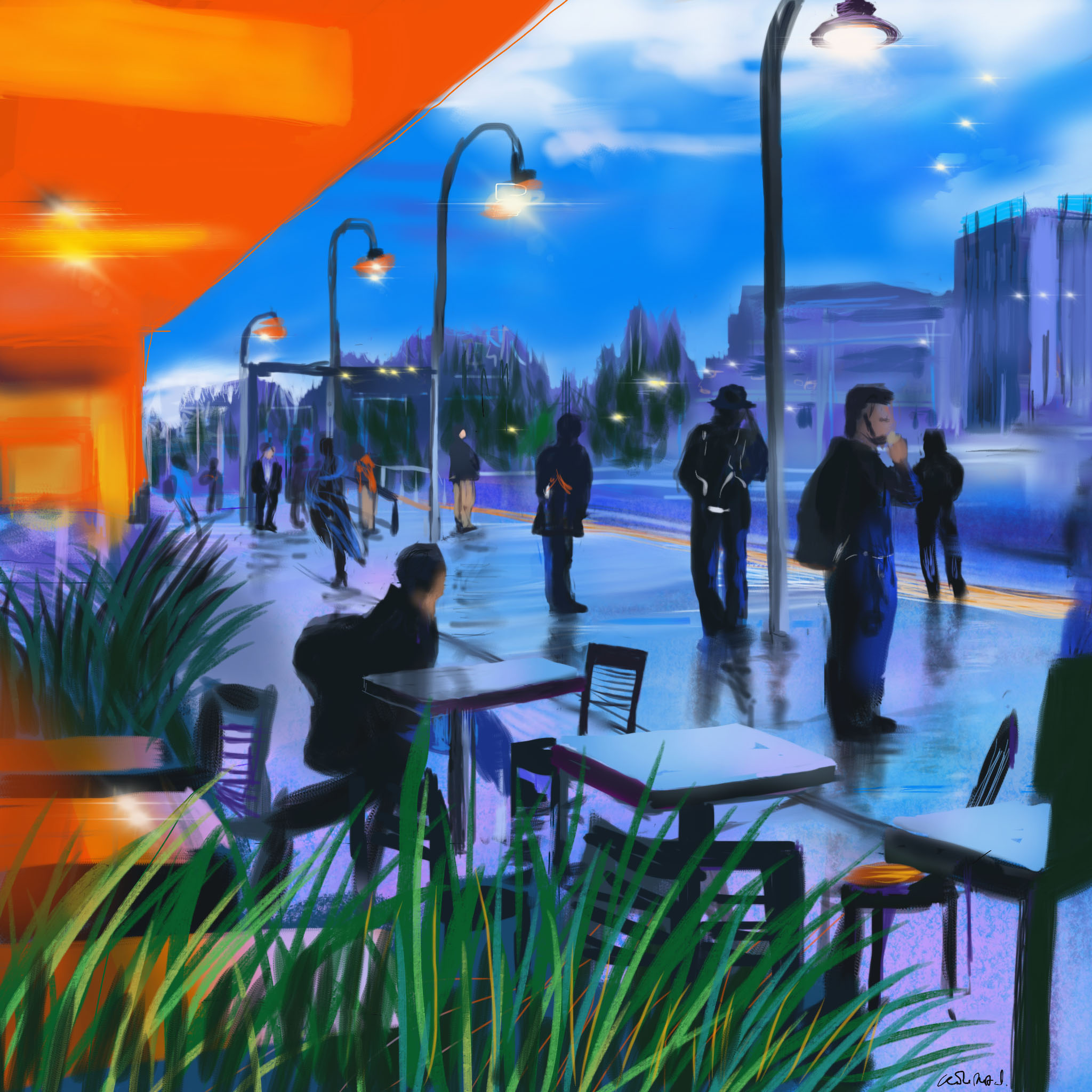 Waiting at the Station. See Digital Art Gallery/Silicon Valley
