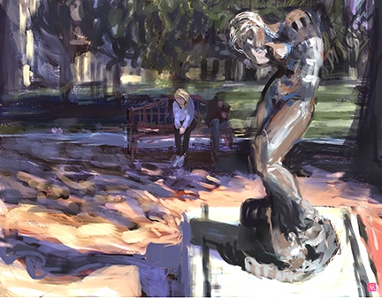 Rodin Sculpture Garden. See Digital Art Gallery/Silicon Valley