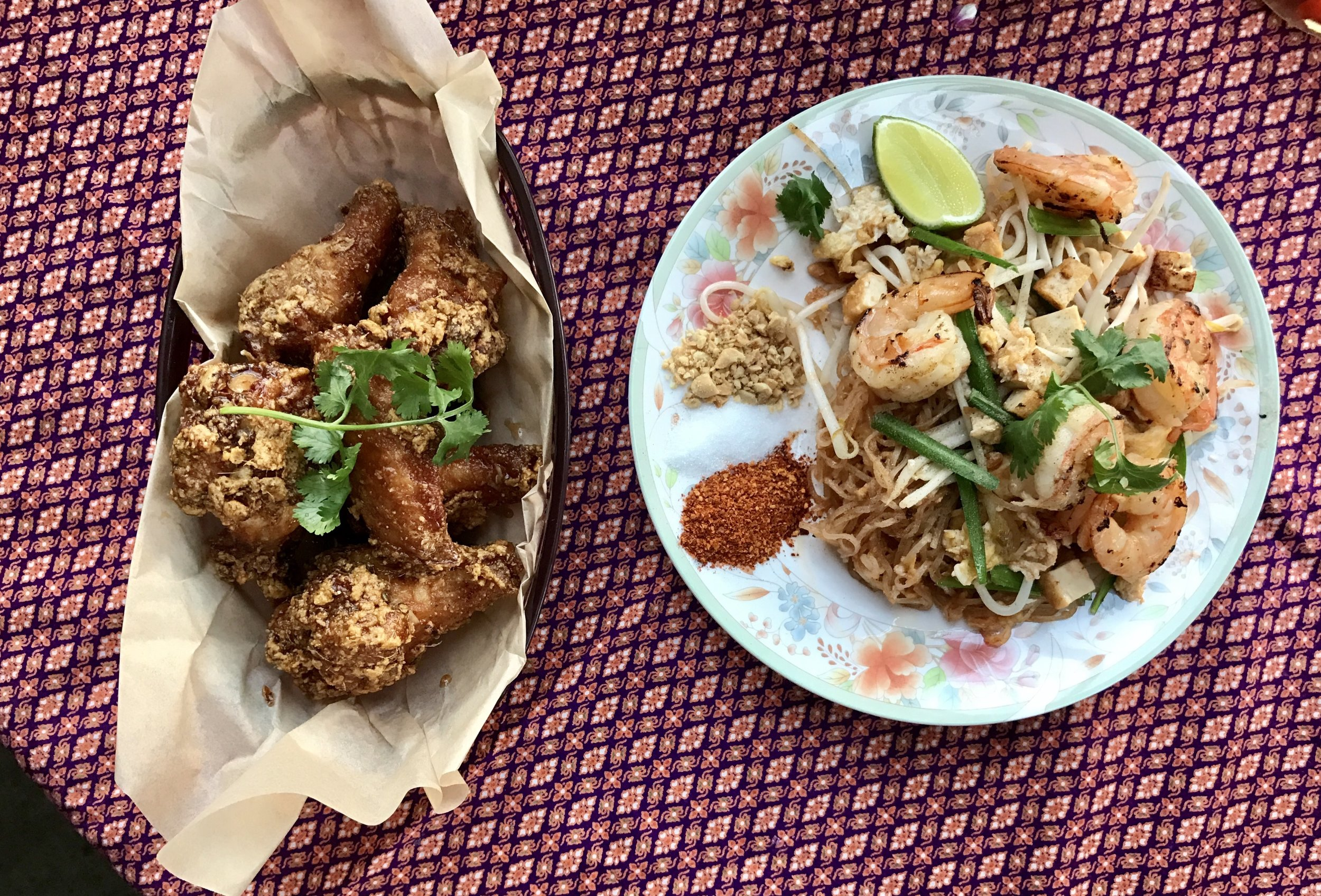 Sticky Wings and Pad Thai