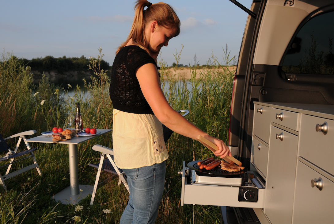 Preparing meals is a breeze with the Rear Kitchen