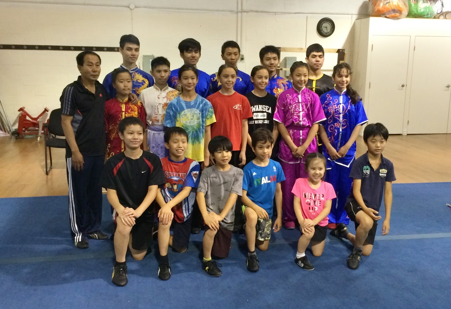 The 2016 Wayland Li competition team during the preparation camp.