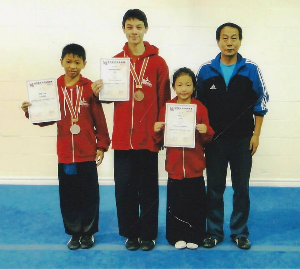 Champions and Master Li.