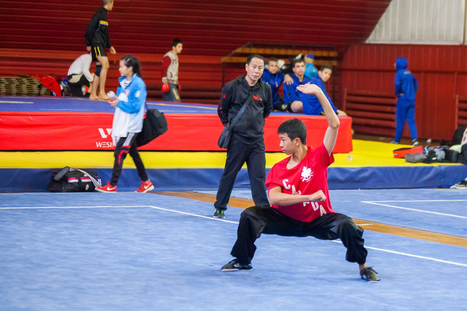 Wayland Li Wushu for Team Canada at World Junior Wushu Championships, 2016