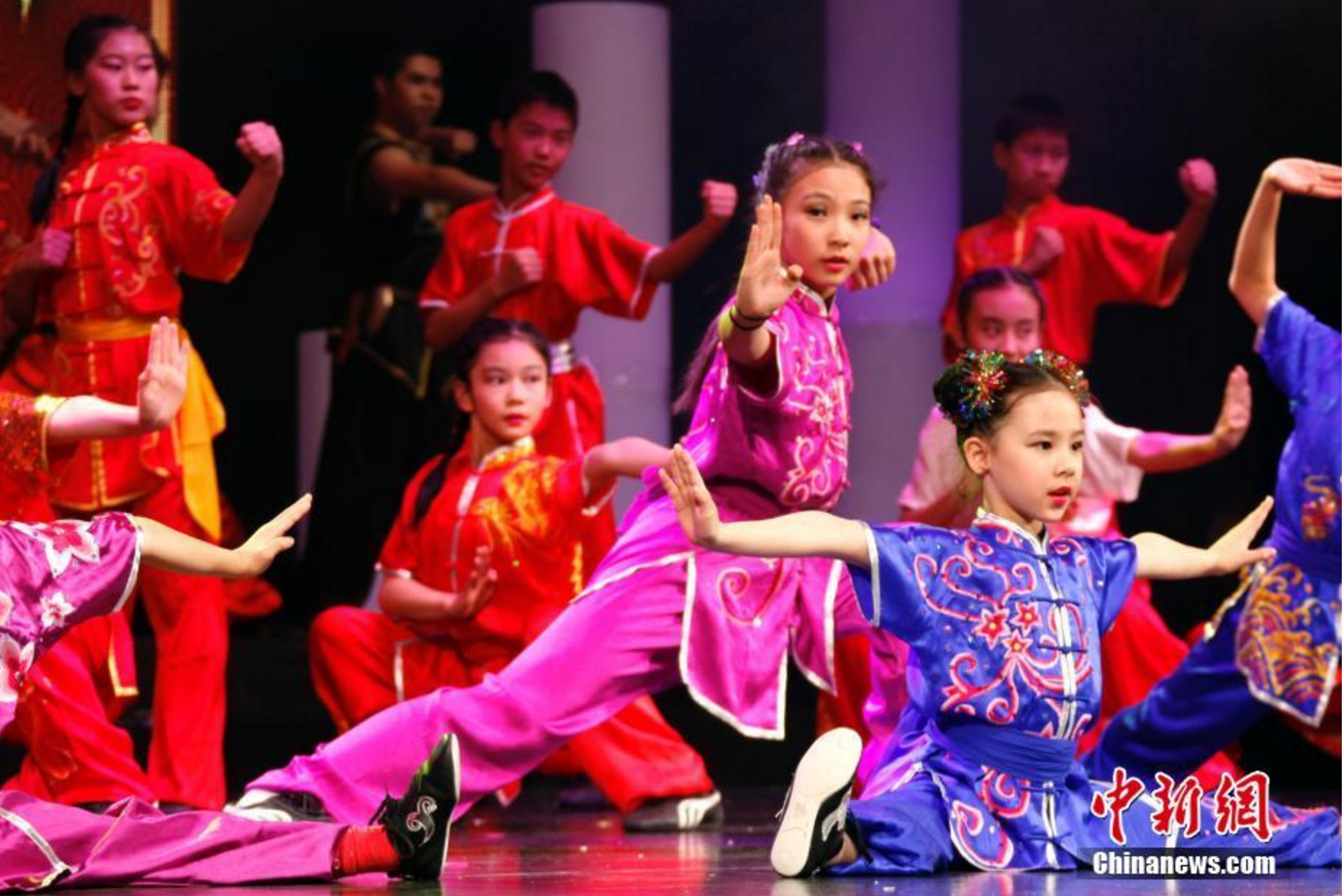 Young Wushu champions from Wayland Li.