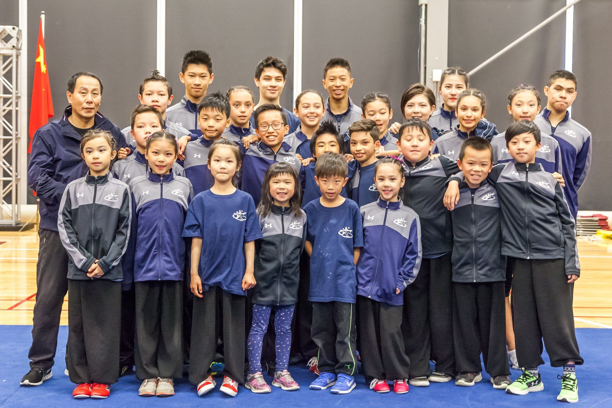 The 2017 Wayland Li competition team at the Markham Pan Am Centre.