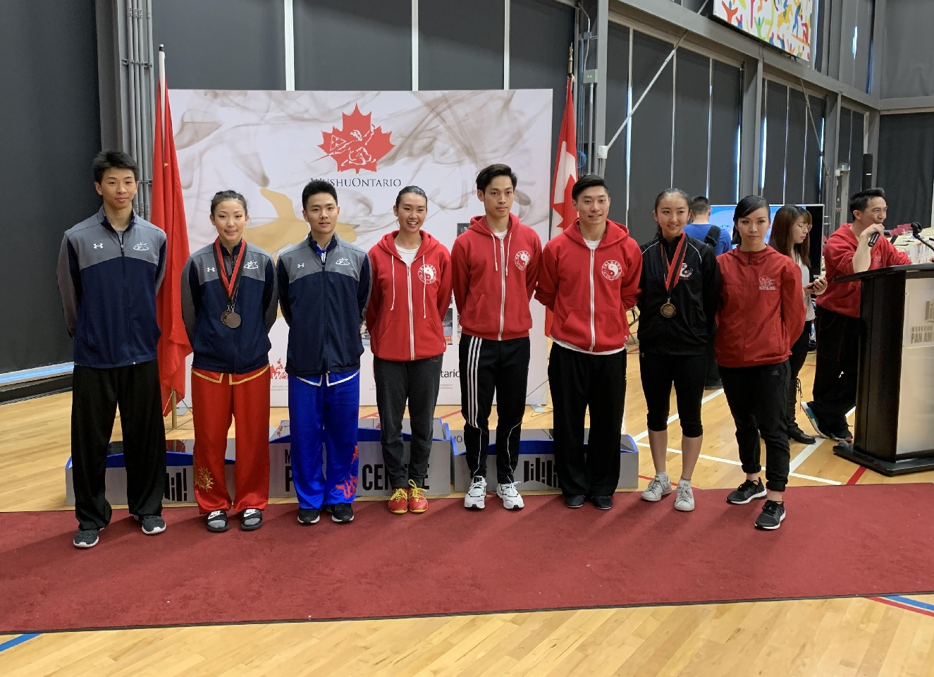 The 2019 Canadian National Wushu Team. Congrats Rex, Erica and Dylan, as well as friends from our schools across Canada!