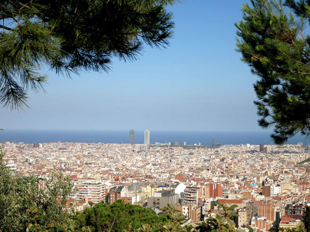 Barcelona views skyline
