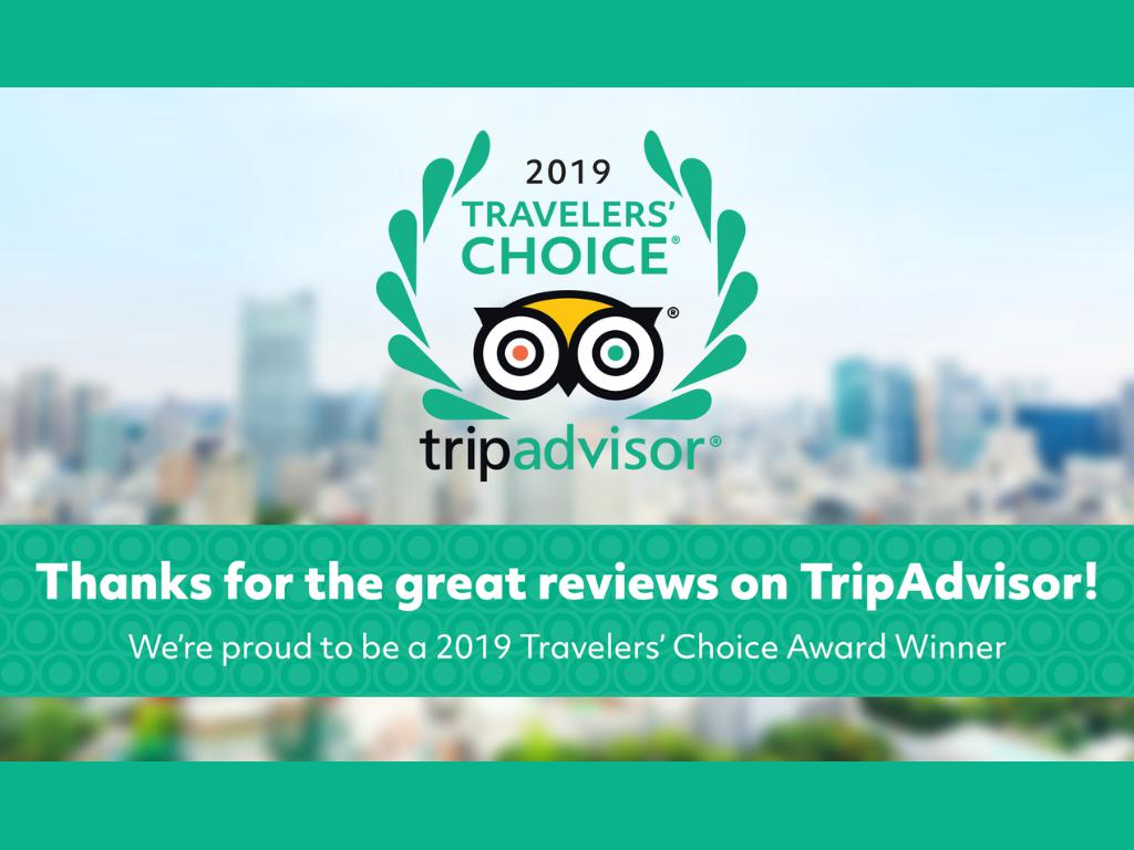 Tripadvisor traveler's choice award