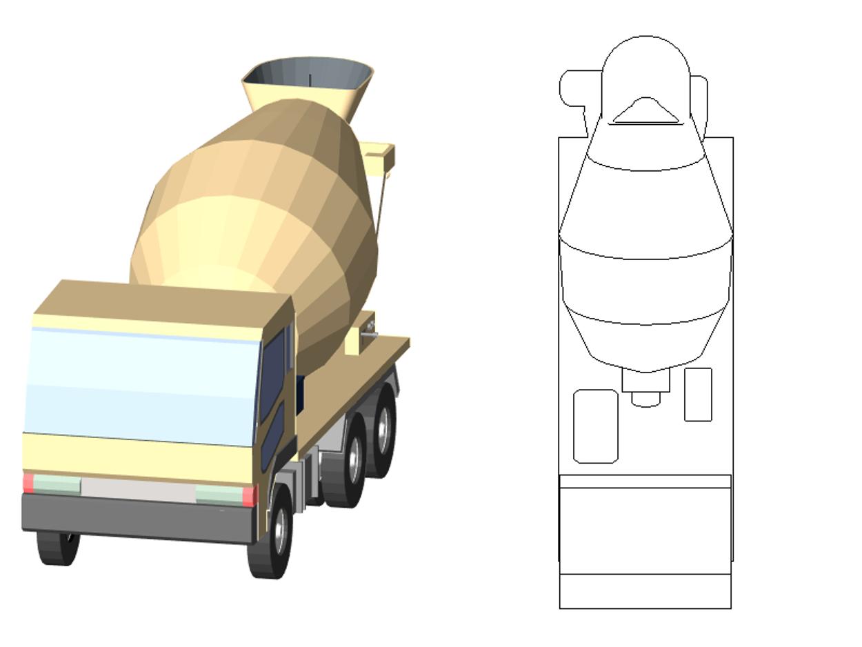 AH_ミキサー車/AH_Mixer - 簡易表示の修正