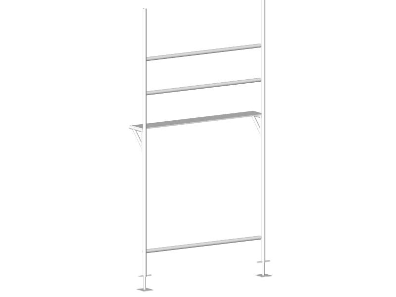 単管ブラケット足場 - サイズ(mm)L=1829