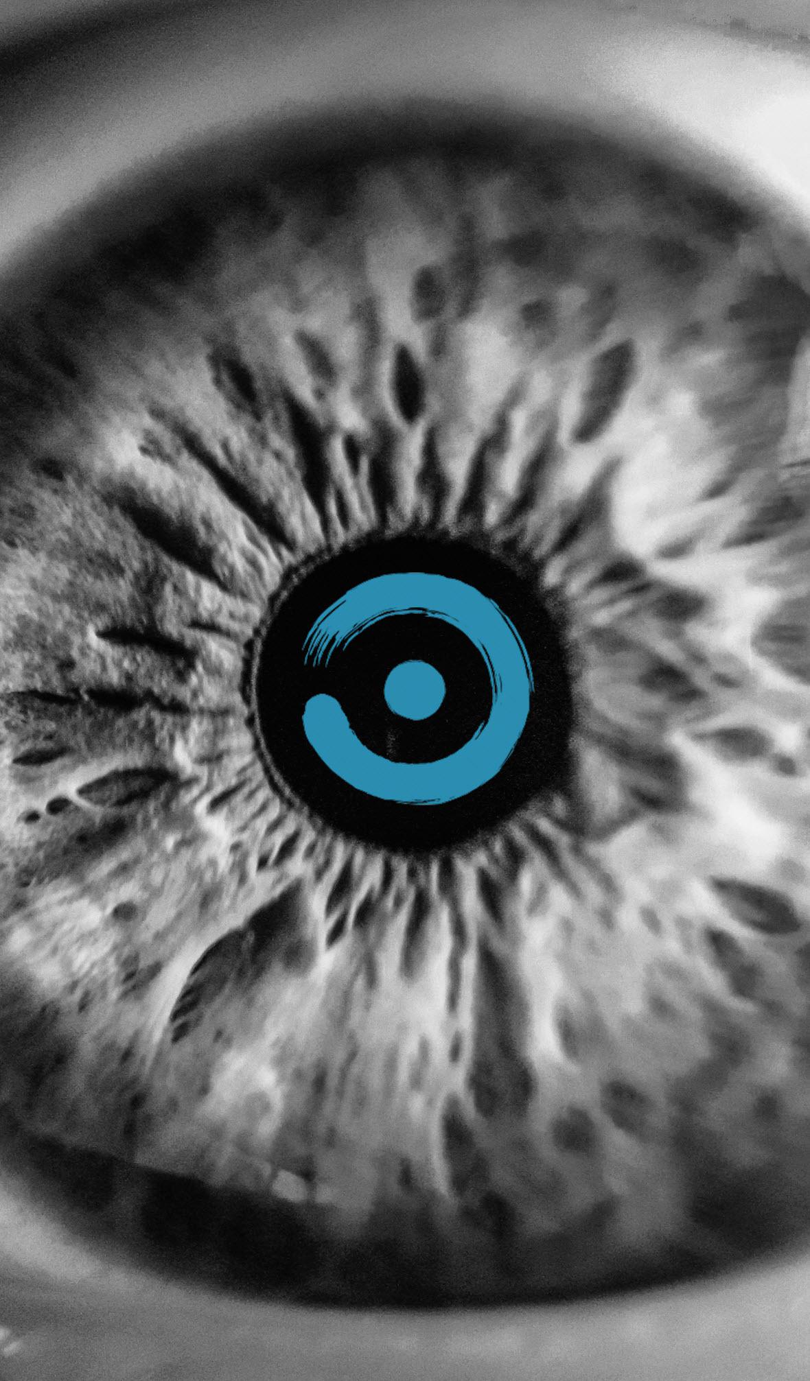 bay eye care logo pupil