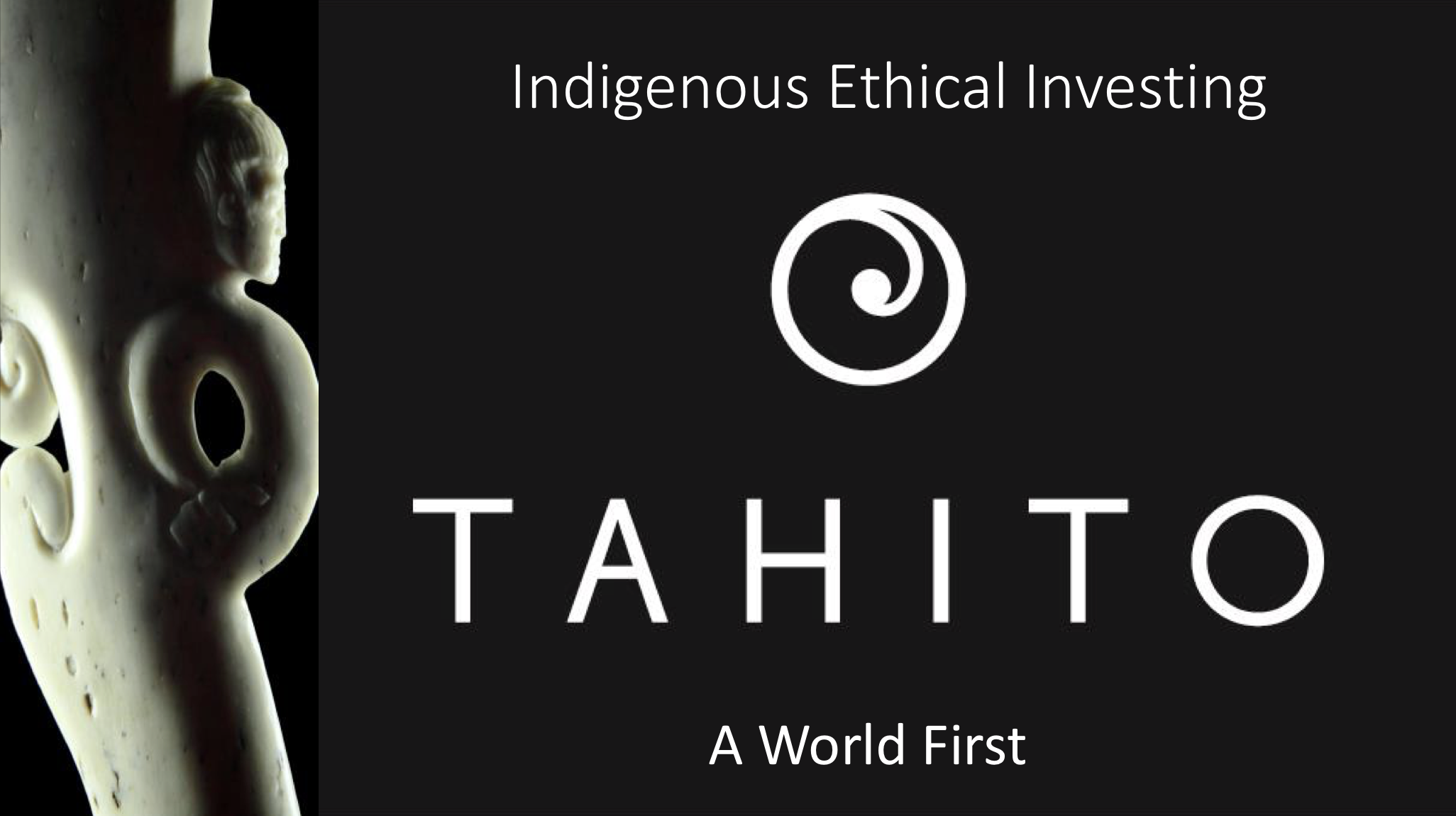 Indigenous Ethical Investing   Temuera Hall ('Tahito' JMI Wealth Limited)