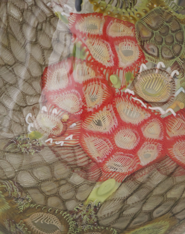 Jennifer Kemarre Martiniello,  Bush Flowers & Seedpods Bicornual #1 , 2017, blown glass, 22 x 23 x 14 cm.Gaffer: Annette Blair. Photo: Jennifer Kemarre Martiniello.