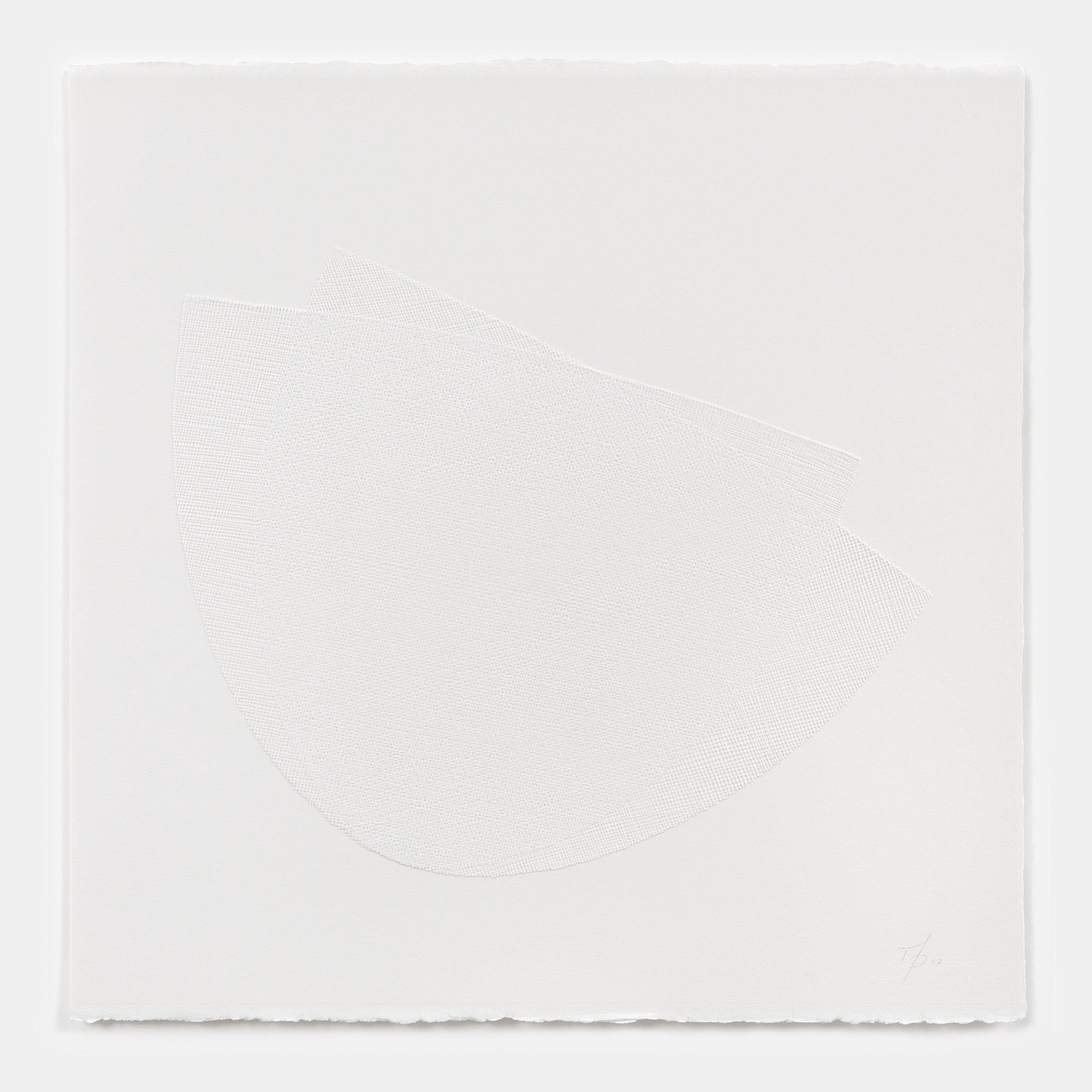 Mel Douglas, liminal I, 2017,fused glass, paper, 60 x 60 cm.Photos: David Paterson.