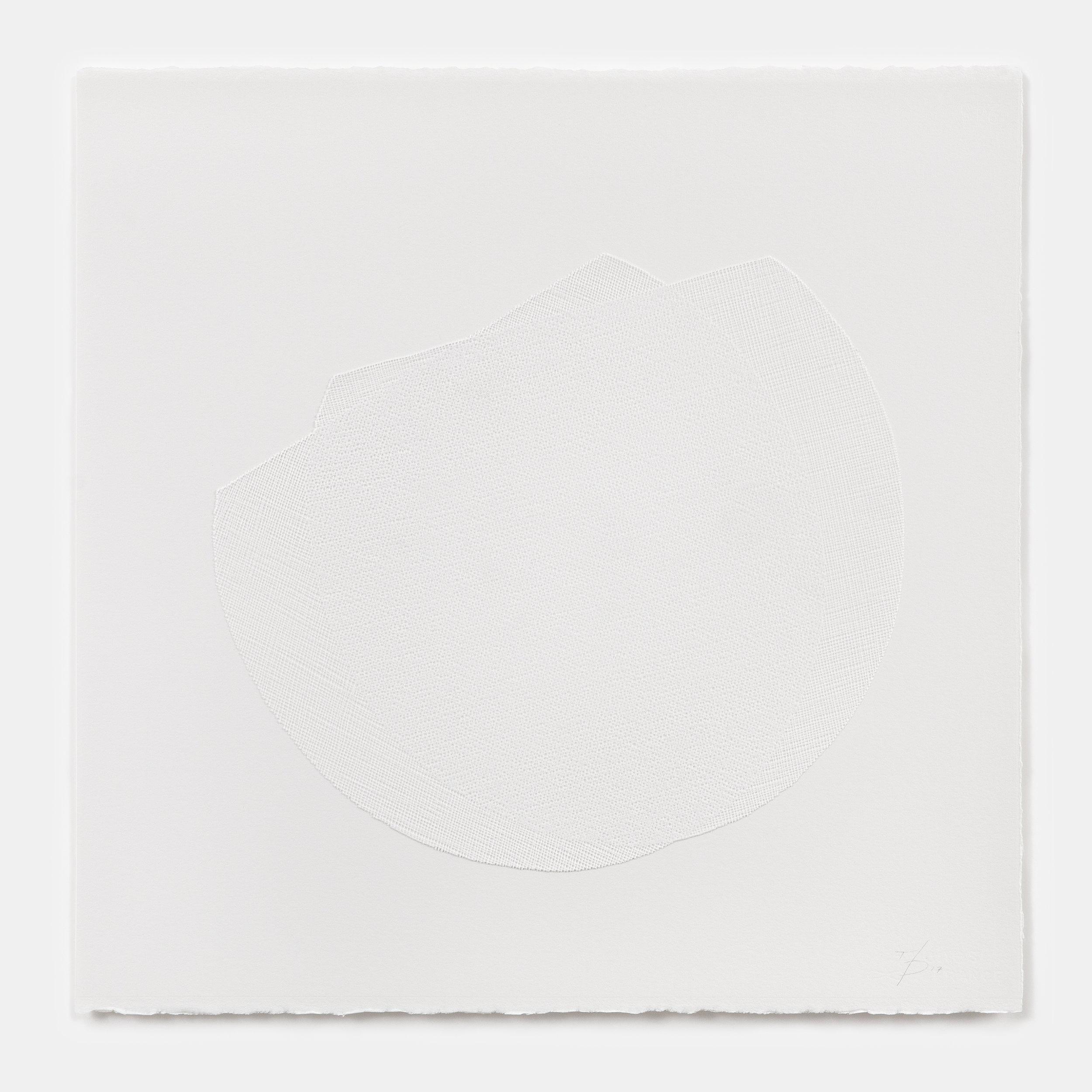 Mel Douglas, liminal III, 2017,fused glass, paper, 60 x 60 cm.Photos: David Paterson.