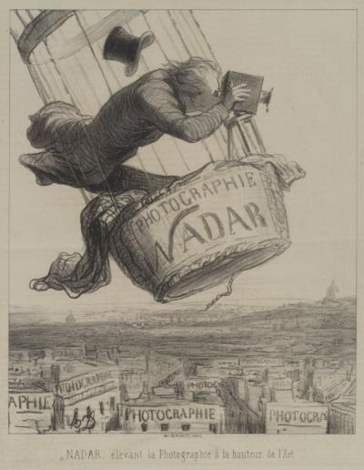 Brooklyn Museum  Nadar Élevant la Photographie à la Hauteur de l'Art  Honoré Daumier, 1862