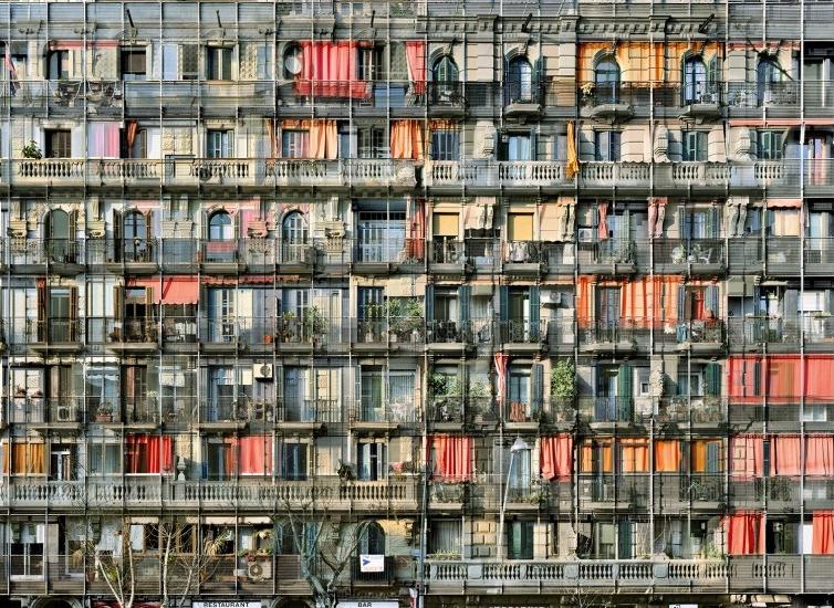Stéphane Couturier, Barcelone, Avenida del Parallel n°2 , 2008 © Stéphane Couturier. Collection Maison Européenne de la Photographie, Paris