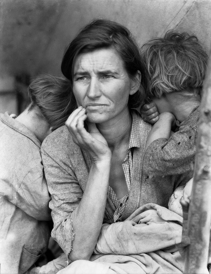 Migrant Mother, Nipomo, California, 1936, Dorothea Lange © The Dorothea Lange Collection, the Oakland Museum of California, City of Oakland. Gift of Paul S. Taylor