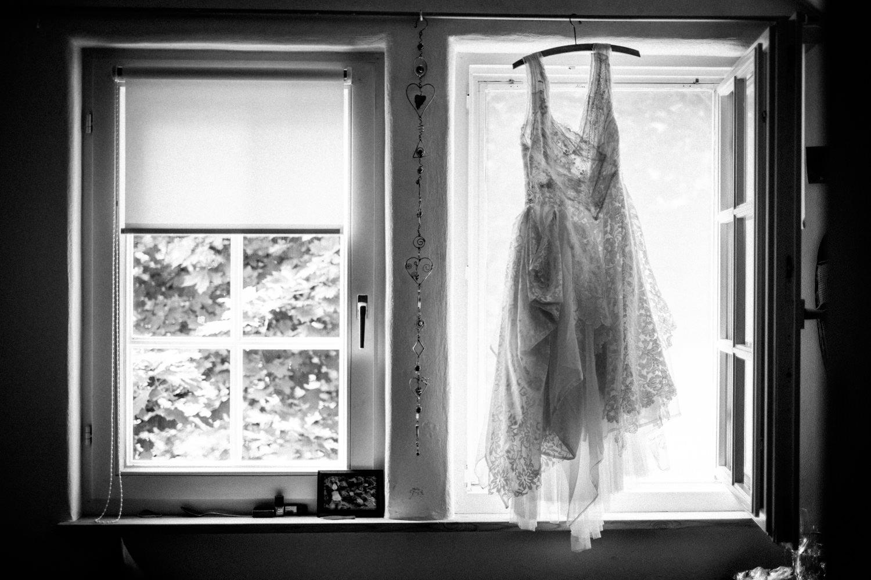 Wunderschönes selfmade Vintage-Hochzeitskleid der Braut