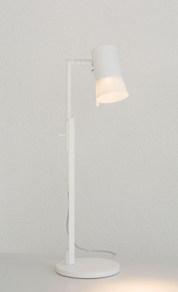 Bezzy bordlampa, vit