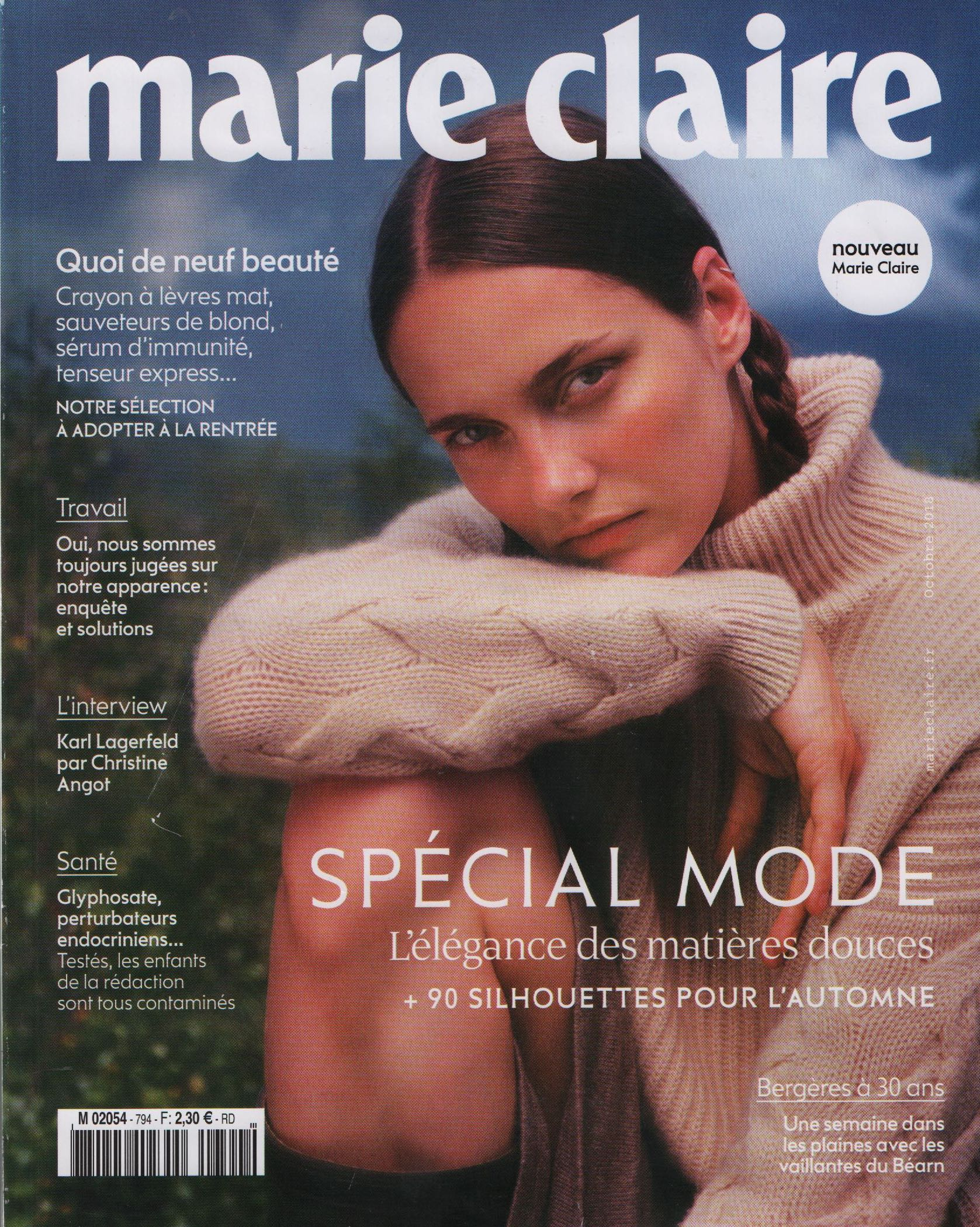 MARIE CLAIRE SPECIAL MODE Octobre 2018 Cover.jpg
