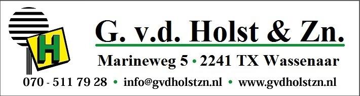 G. van der Holst & Zn. B.V. is sinds de oprichting in 1962 door Gerard van der Holst actief op het gebied van grond- en sloopwerken, het plaatsen van damwanden en beschoeiingen, de aanleg van tuinen, het aanleggen van (sier)bestratingen enz. De werkzaamheden worden uitgevoerd voor o.a. lokale overheden, instellingen, aannemers, bedrijven, particulieren en verenigingen. Voor de genoemde werkzaamheden beschikken wij over een breed en modern machinepark met machines van klein tot groot. Wij beschikken over een ervaren team van 20 medewerkers en voldoen aan ISO en VCA certificering.