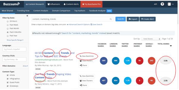 Tip 2: Wanneer je twijfelt over de soort blog, kijk dan naar de blogtitels. Welke titels scoren het beste en hebben de titels iets met elkaar gemeen?