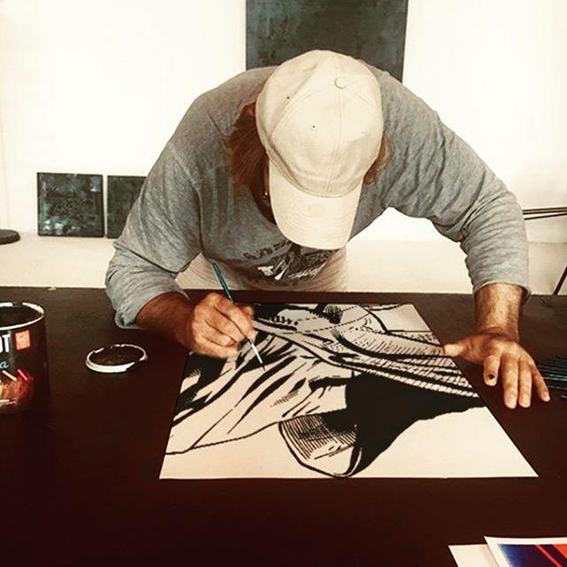 Creating art is what we love best. Our fabulous artist at work. #art #myart #myartwork #coolart #funart #abstractart #makearteveryday #artsy #contemporaryart #artlife #practice #wip #workinprogress #experimentalart #visualart #artoftheday #realism #artistatwork #artcafe #fineart #artworkshops