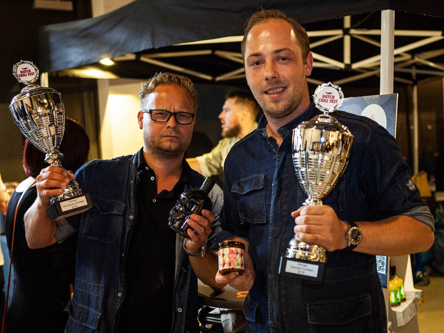 Winner best Hot sauce and best Sambal2019 Sauce GuruBlack Gold (Skull HotMandarin Chutney (Fruit Sambal) -