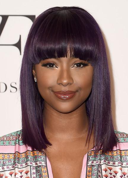 Justine skye purple bob
