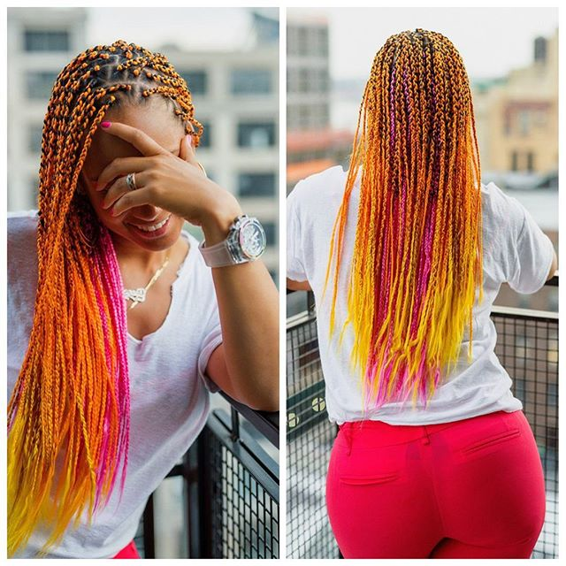 These neon braids donned by Keys has a carefree black girl vibe we just can't get over.