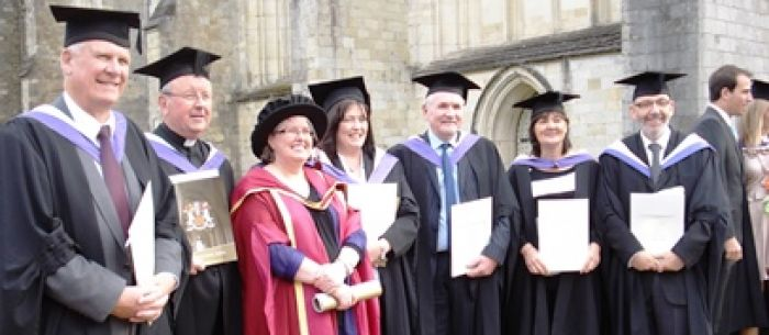 Students graduating in Practical Theology - students from the Congregational Federation, pictured here with tutor, Rev Dr Janet H. Wootton