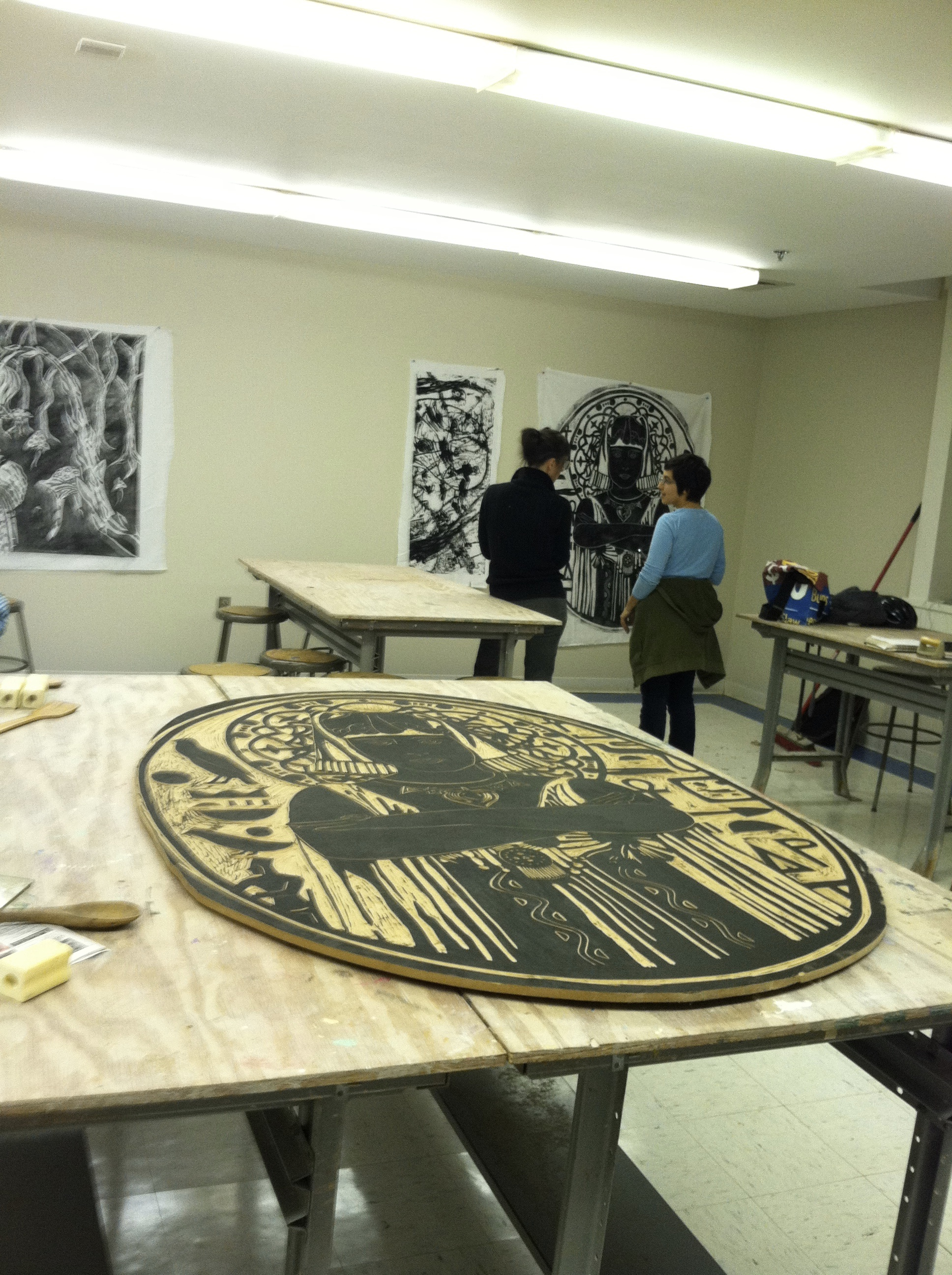 Large Block Print Class - Durham Arts Council