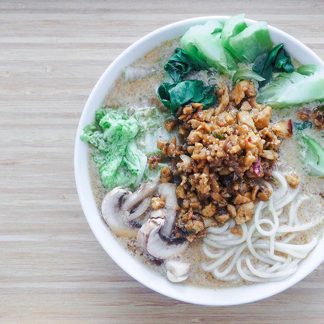 I made a bowl of ramen with #spicy tofu 😋 Who's coming over? 😉 . Broth, miso tare and tofu are from the book 'Just Enough' from @gesshin_claire 💜 I like the 'Just Enough' concept. I find it fair, comforting, aligned, relaxing... and i dare say: peaceful. . 🇫🇷J'ai fait des ramen au #tofu épicé 😋 Qui en veut ? 😉 . Bouillon, miso tare et mélange de tofu épicé d'après la recette de Gesshin Clare Greenwood dans son livre 'Just Enough'. J'aime ce concept de juste assez, suffisant... cela me semble juste, réconfortant voire même relaxant. Mais surtout : apaisé. 💜 . Bonne soirée à tous! . . . . . #notafoodblogger #vegan #ramen #veganramen #food #foodphotograhy #mindful #mindfuleating #mindfulnesscoach #coach #coaching #lifecoach #lifecoaching #mindfulness #conscience #mangerenconscience #alimentationsaine #healthyeating #paix #peace #fiercelyhuman #farouchementhumains #aixenprovence #aixmaville