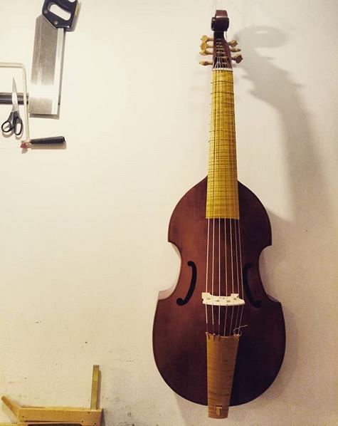 Michel Collichon Bass Viol  69 cm string length  €2000 plus strings - 6-string STUDENT MODEL €2400 plus strings - 7-string STUDENT MODEL
