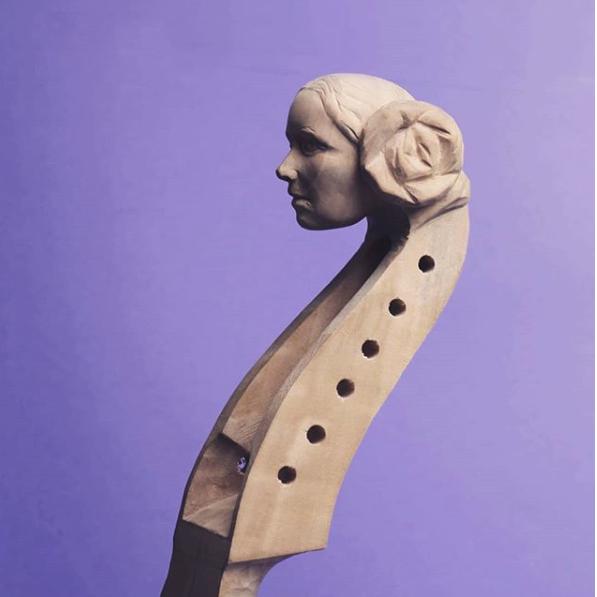 Leia Organa sculpture by Mariusz Dydo