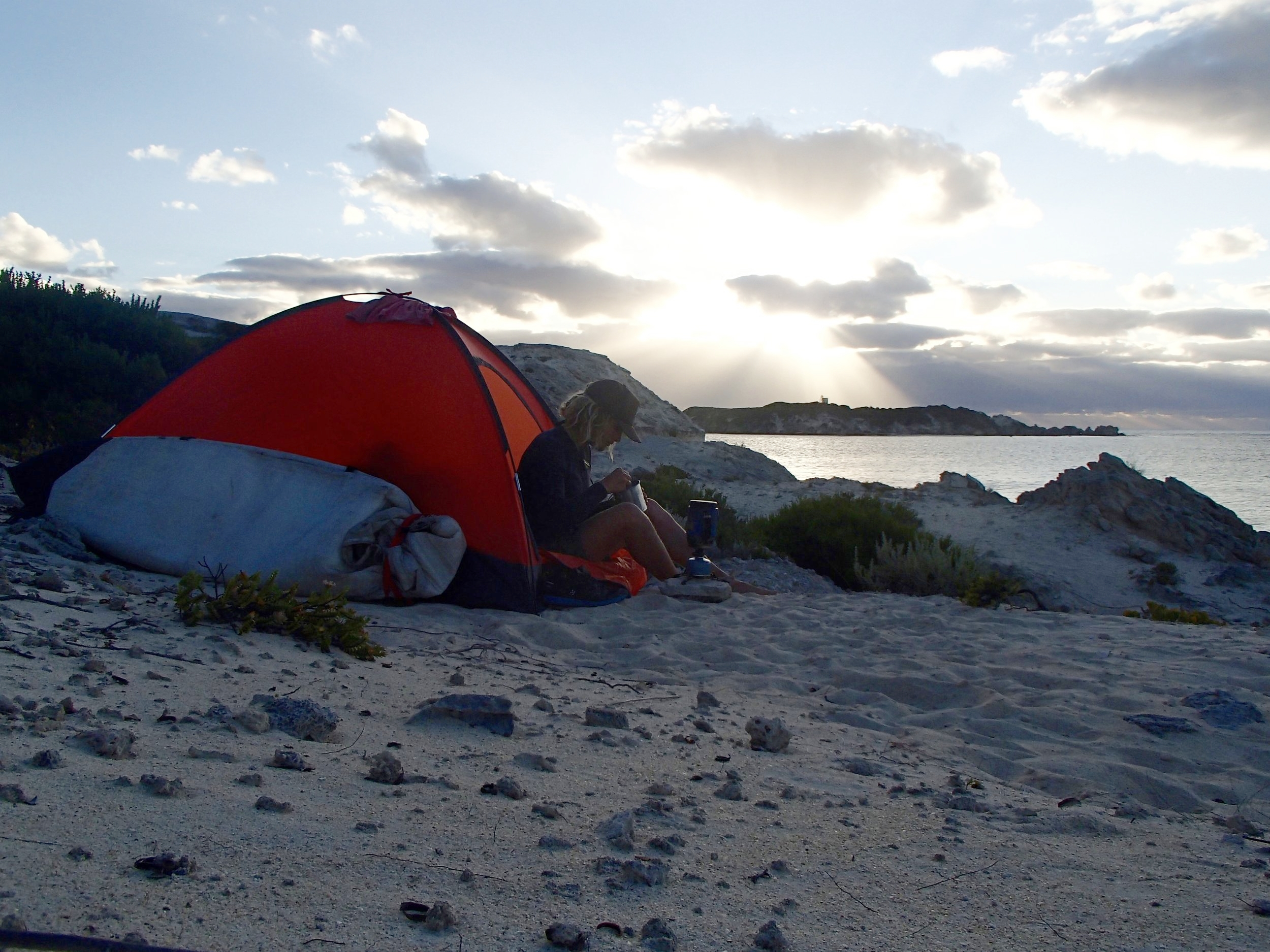 Camping in Hamelin Bay, West Australia on the Cape to Cape Track