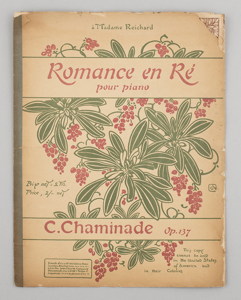 French sheet music, found in London