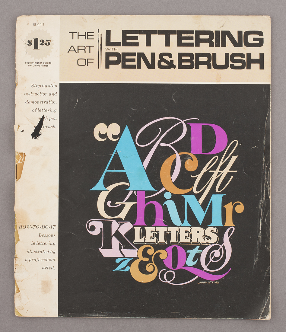 The Art of Lettering with Pen & Brush , 1973, from Deptford market